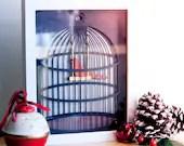 Bird in a Cage Vector / C...