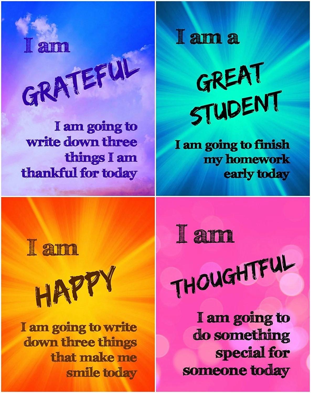 Positive Affirmation Journal Worksheet