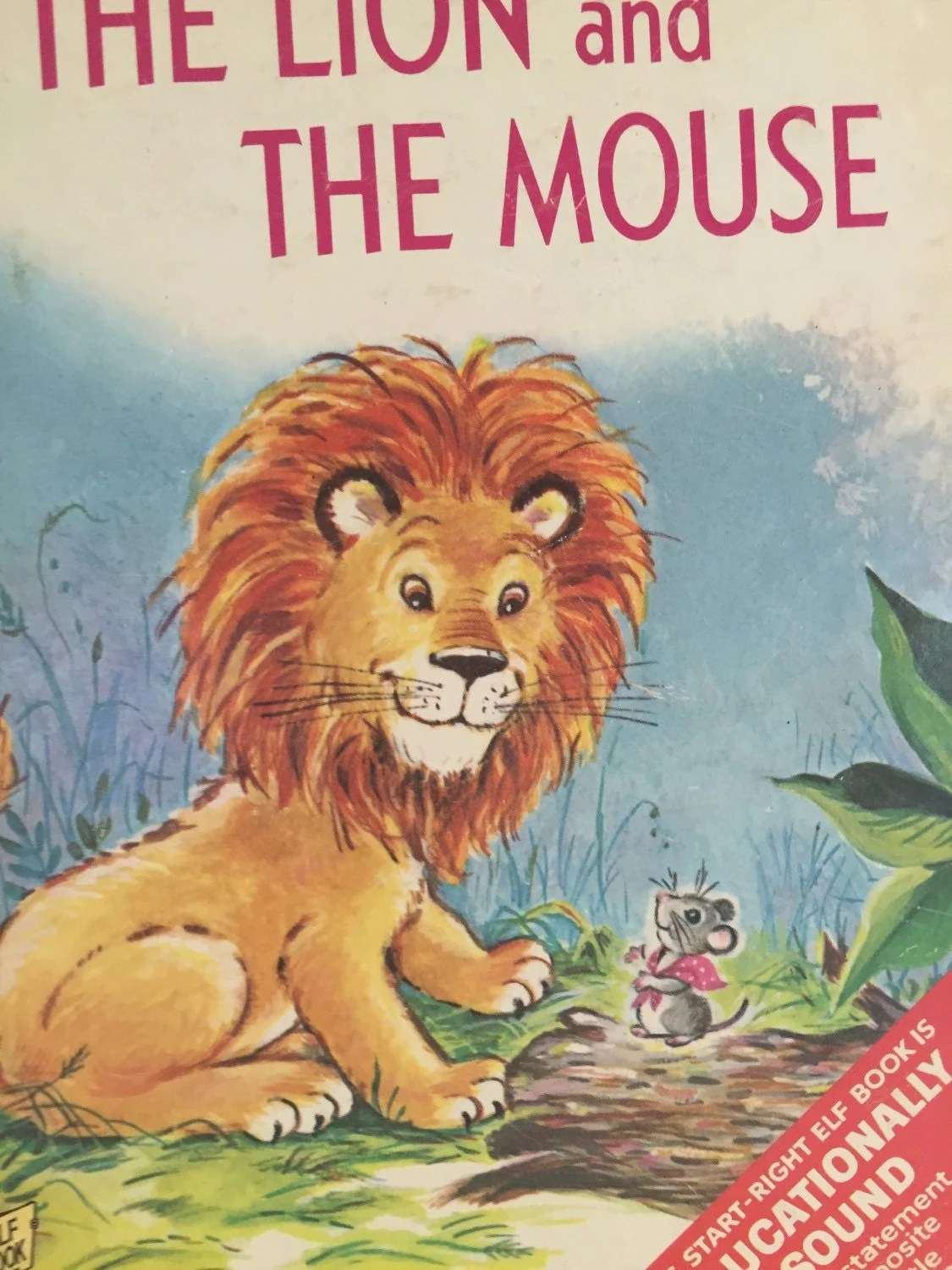 The Lion And The Mouse Childrens Book By Tracisallymaxx On