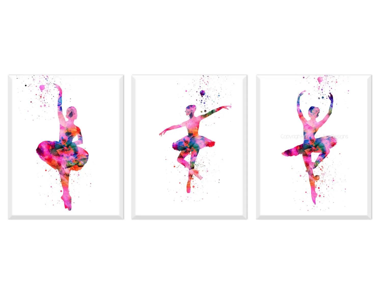Ballerina Print Ballerina Wall Art Girls Room Decor Modern