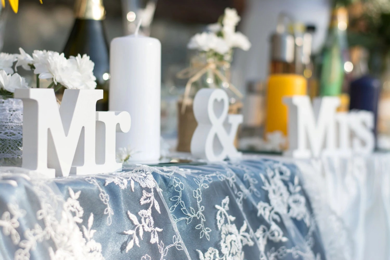 Mr And Mrs Sign Wedding Table Decoration Mr And By