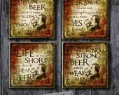 Beer Coasters; Gift for D...