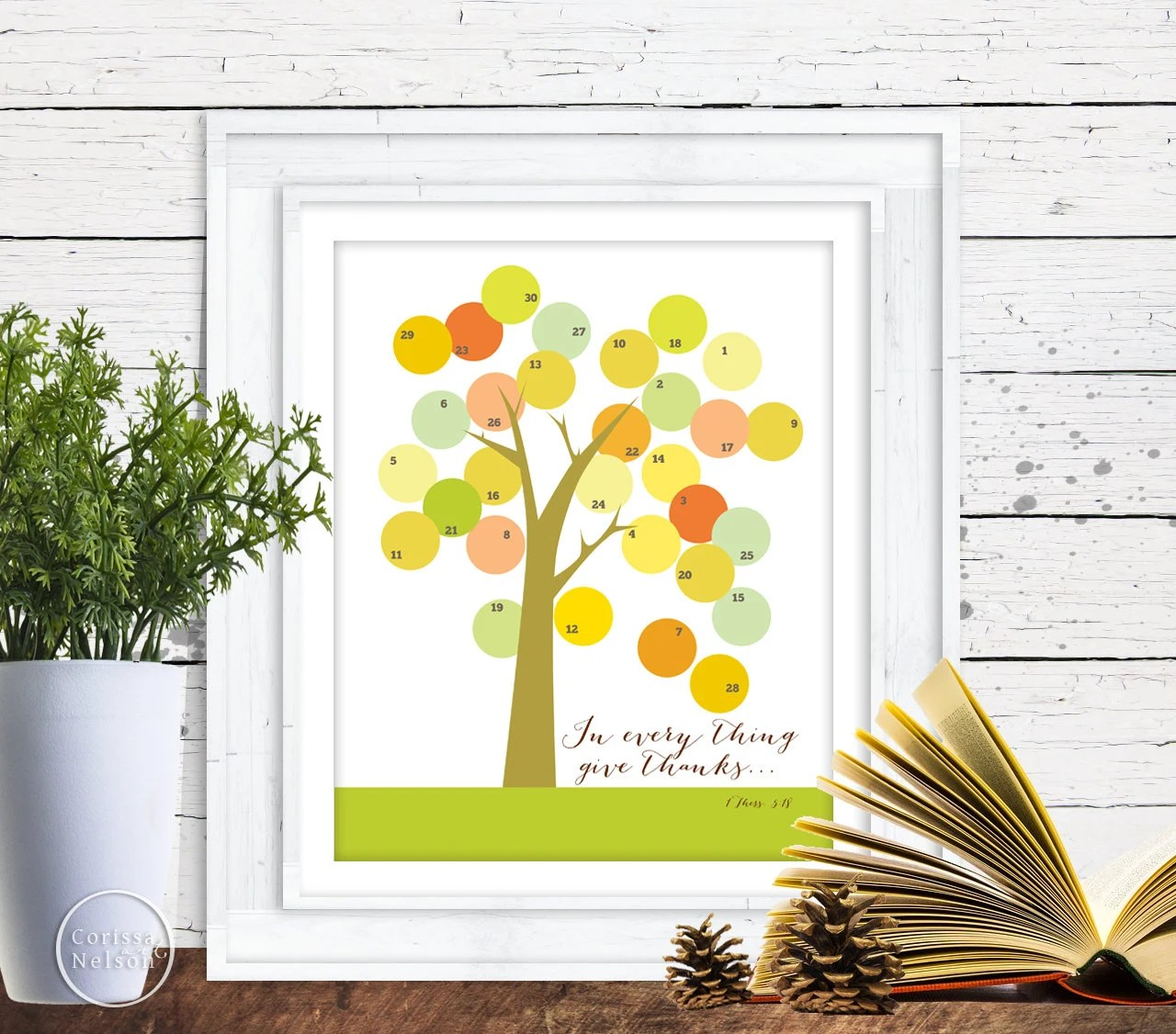 Count Your Blessings Thanksgiving Tree Countdown Instant