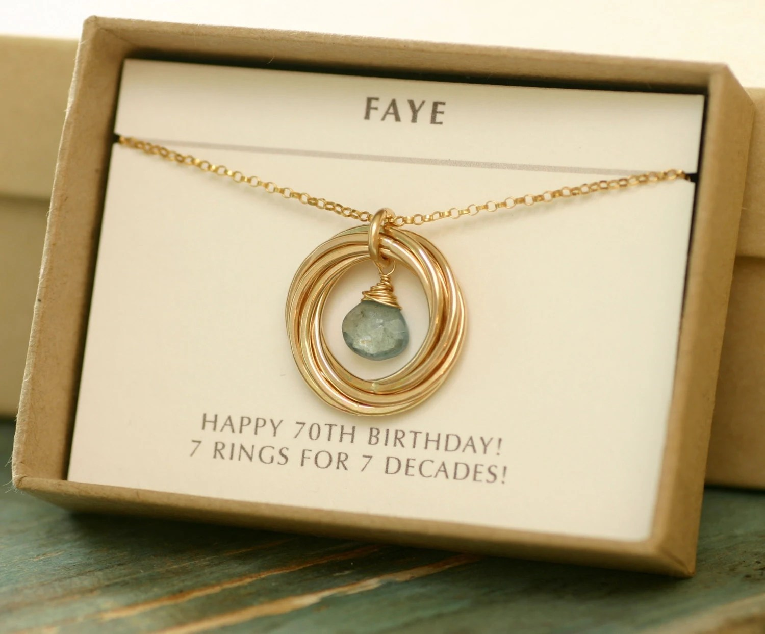 70th Birthday Gift For Grandmother Necklace For Mom Gift