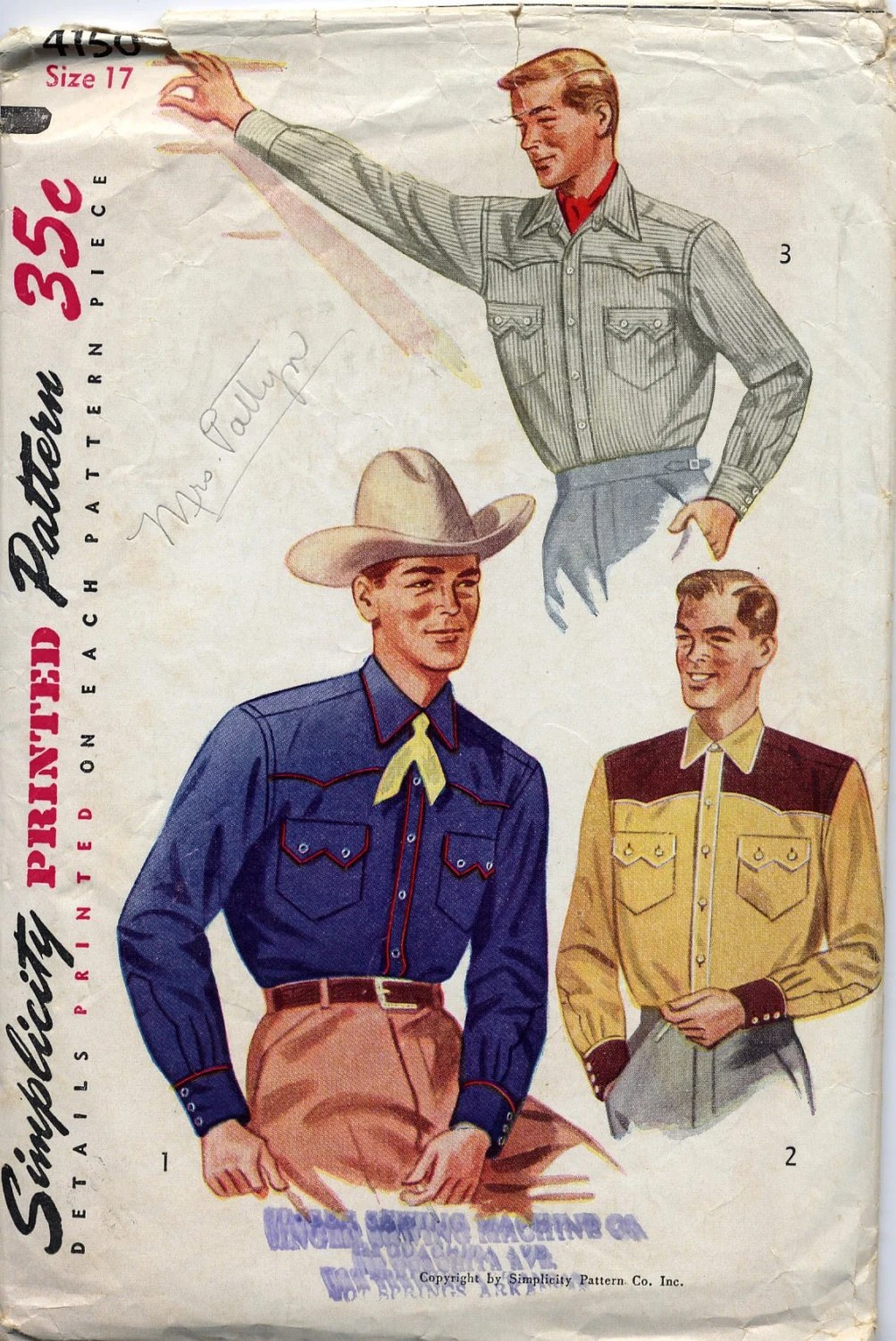 Retro Cowboy Embroidery Patterns