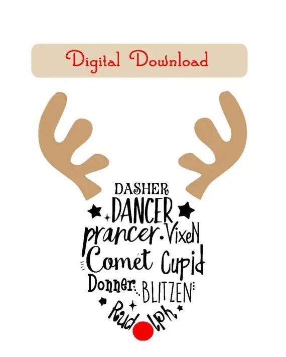 Download Reindeer SVG File PDF jpg Reindeer for child by ForeverWilds