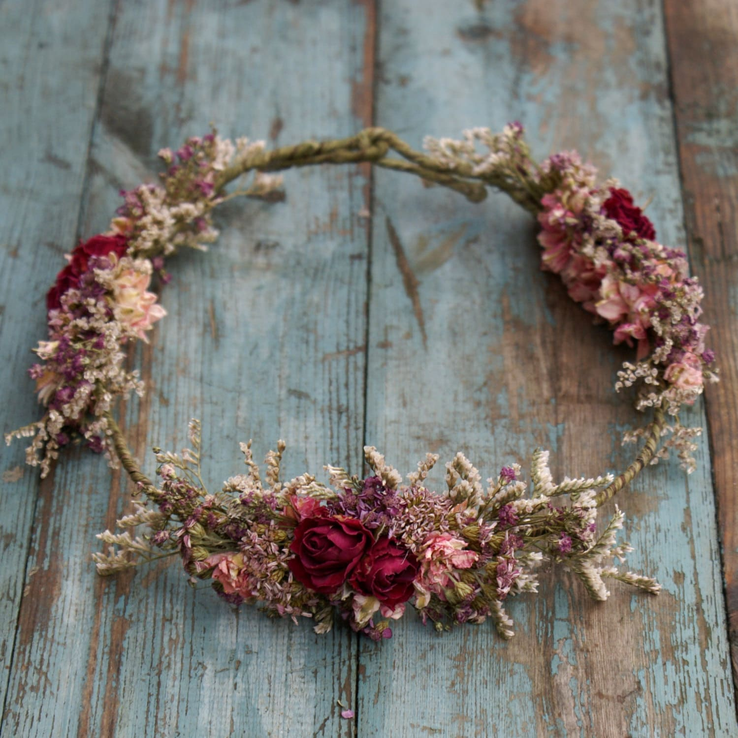 Summer Haze Dried Flower Hair Crown
