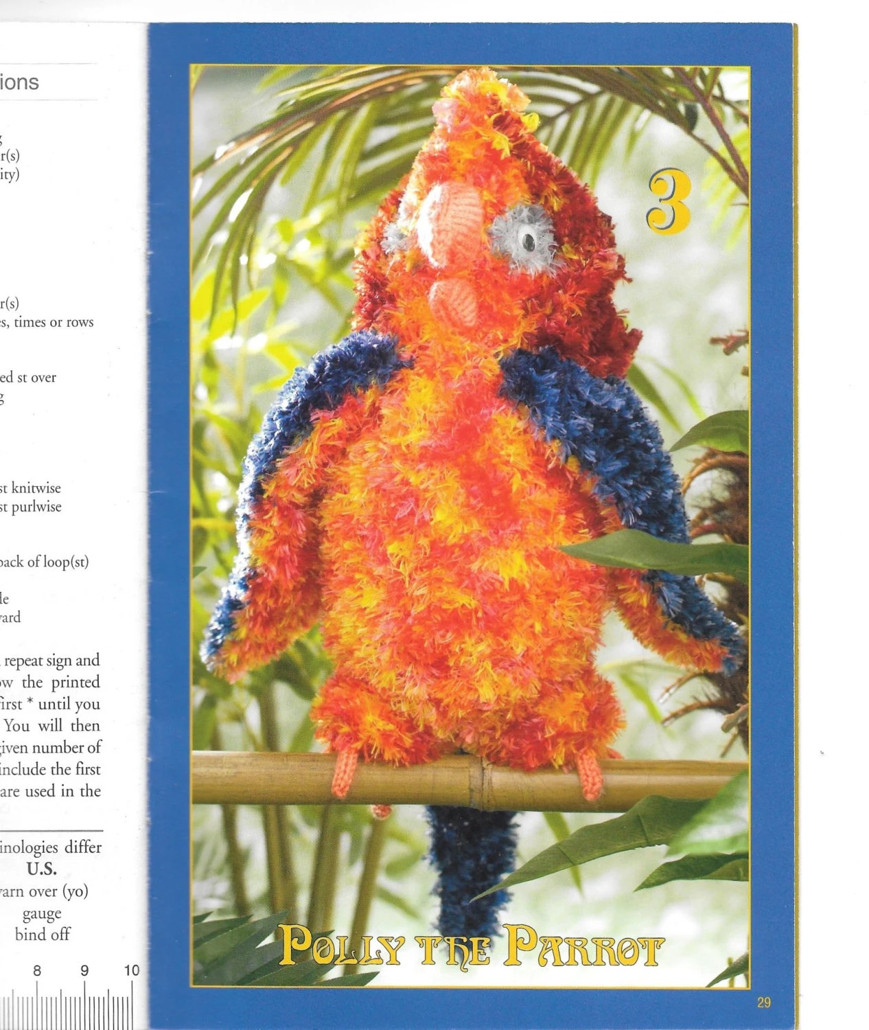 Knit Book Of Animals Etsy