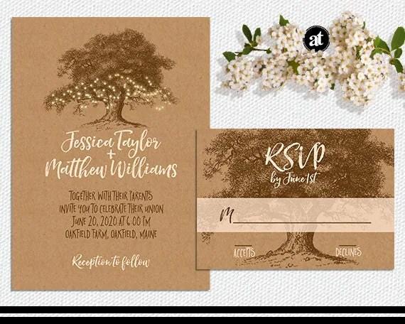 Fall Wedding Invitation Kits