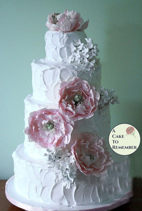Gumpaste Peonies And Lilacs For Wedding Cake Sugar Flowers