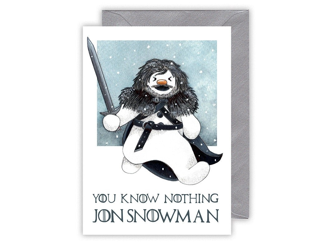 Game Of Thrones Christmas Card You Know Nothing Jon Snowman