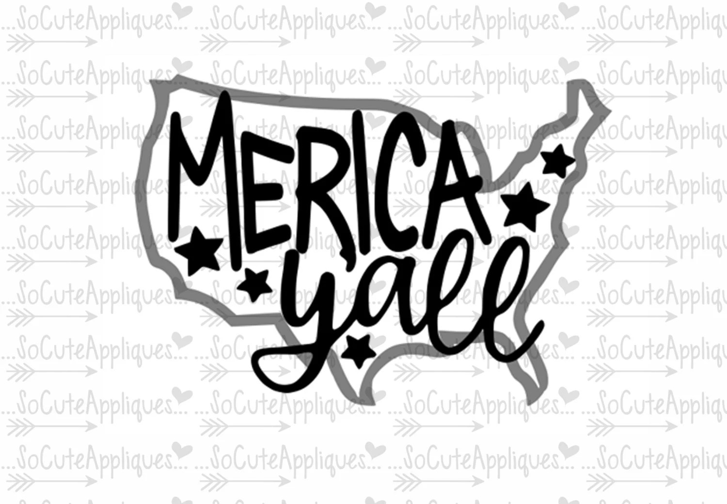 4th Of July Svg Merica Yall Svg Socuteappliques Freedom