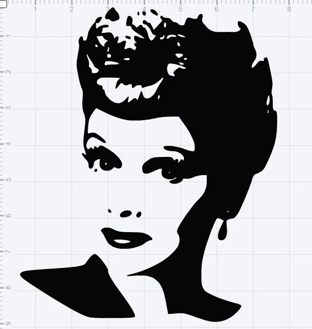 Download I Love Lucy Lucille Ball SVG EPS DXF Studio3 Cut File from ...