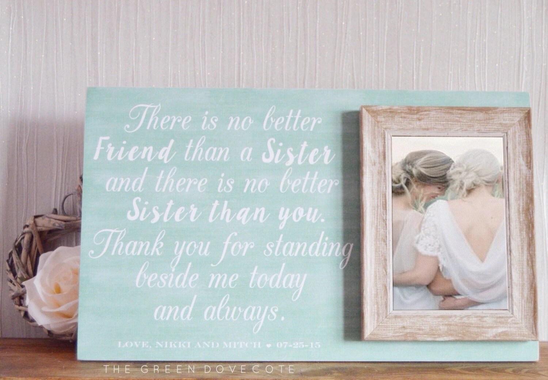 Sister Wedding Gift Gift For Sister Maid Of Honor Gift