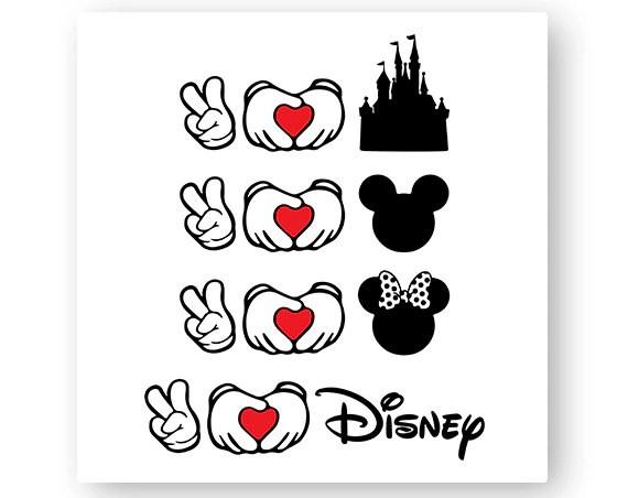 Download Disney, Peace, Love, Castle, Icon Mickey, Icon Minnie ...