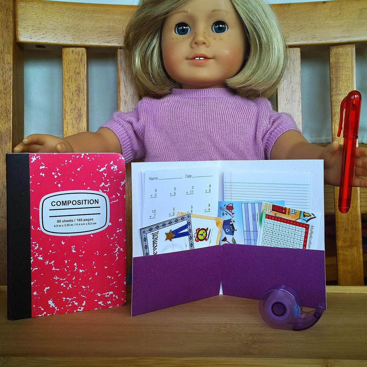 Mini School Supply Accessories Set Fits By Pocketparchment