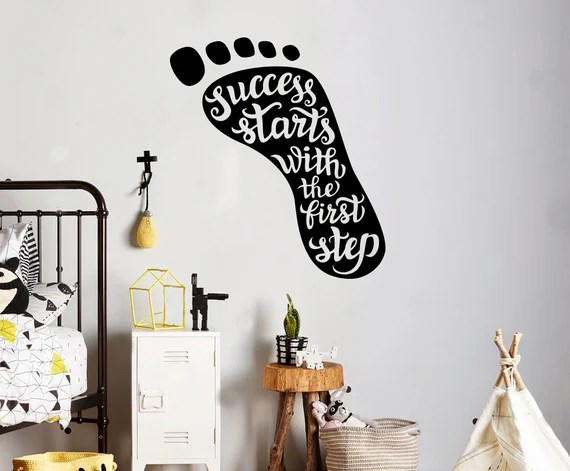 Success Starts with First Step Decal by USAmadeproducts