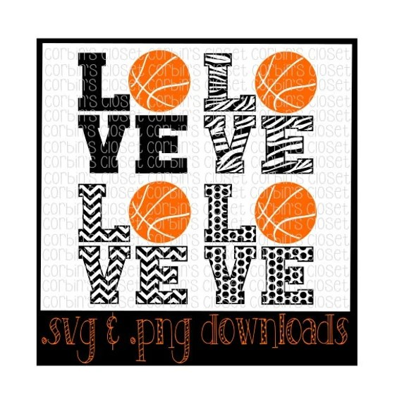 Download Love Basketball Mix & Match Cutting File SVG PNG by ...