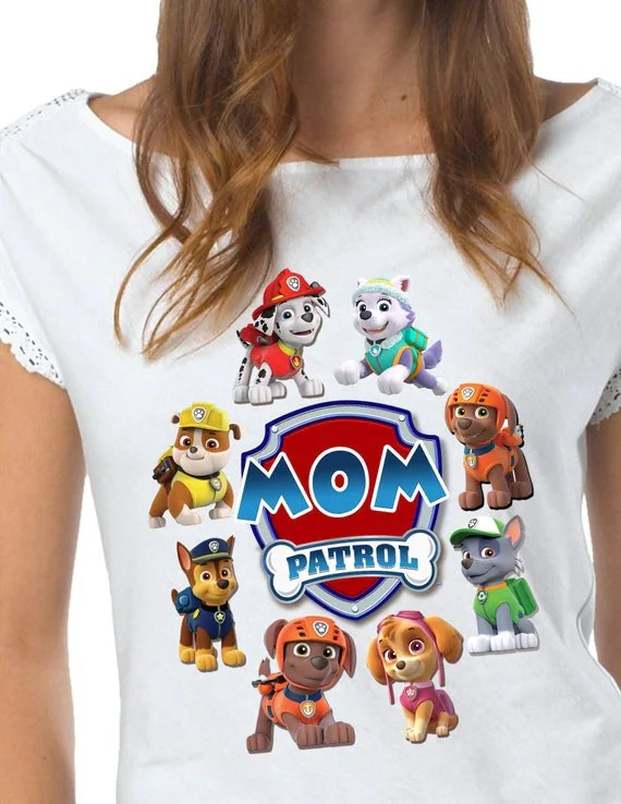 Paw Patrol Iron On Transfer Shirt Patrolr DIY