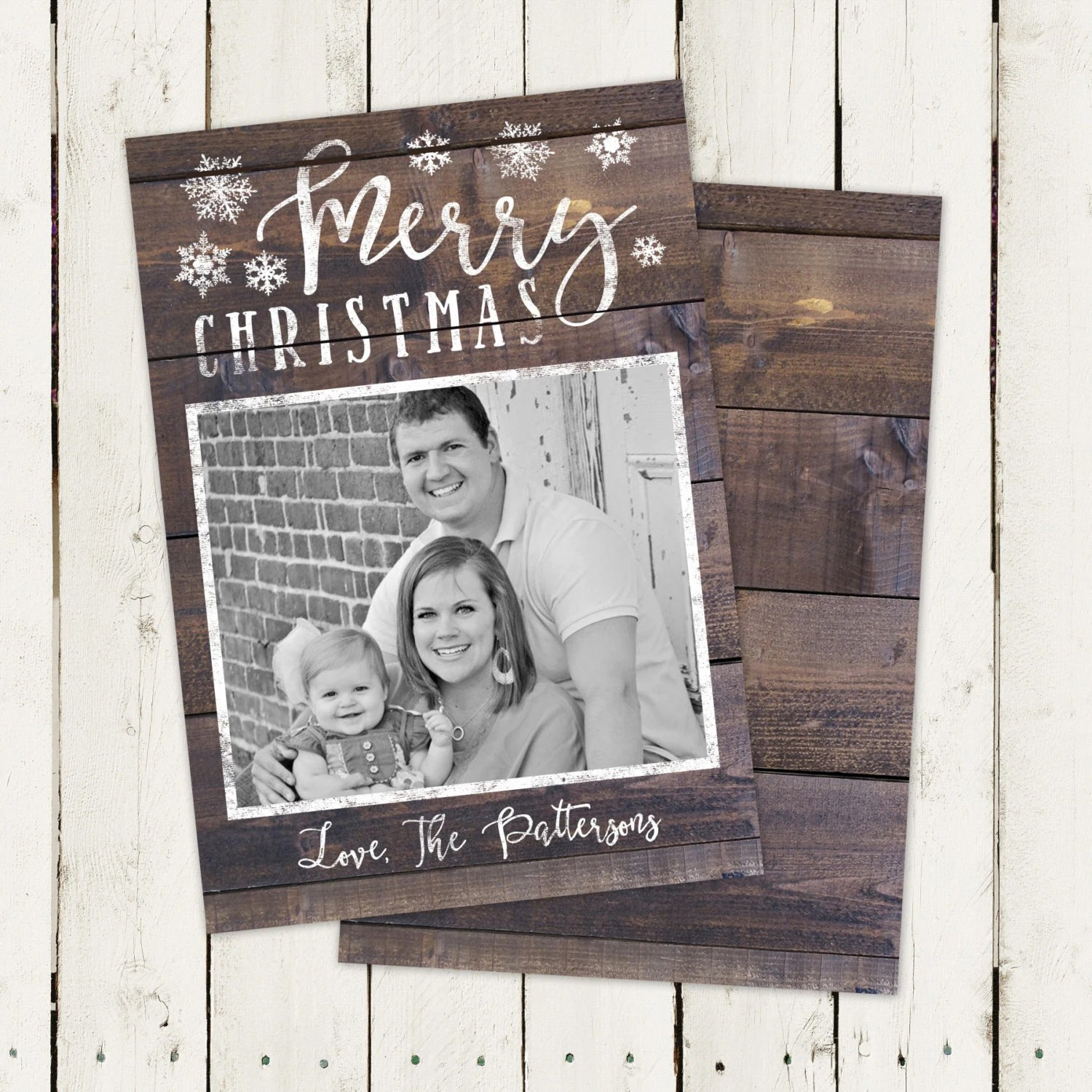 Photo Holiday Card Photo Christmas Card Rustic By