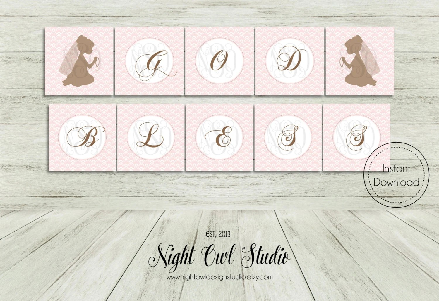 First Communion Printable Banner Girl Communion First Holy