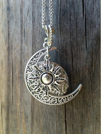 Owl and moon diffuser necklace