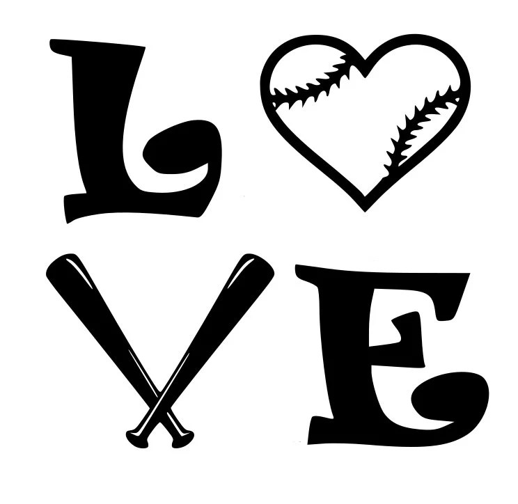 Download Love Baseball or Softball SVG File by SouthernPickedDesign ...
