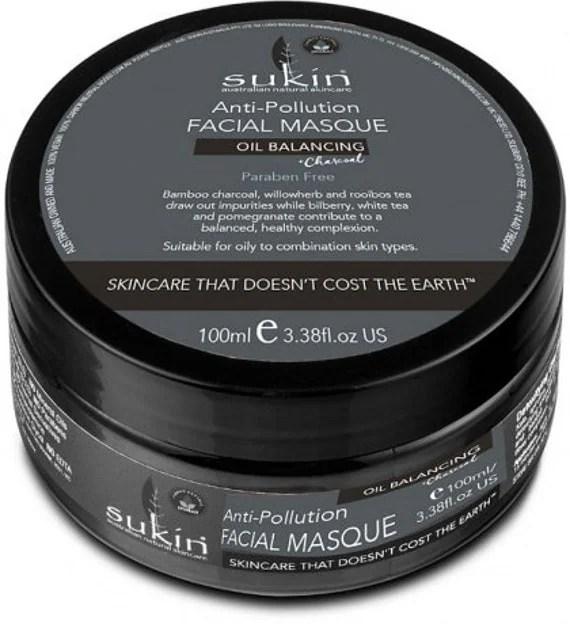 Sukin Anti-Pollution Facial Masque Oil Balancing Plus Charcoal 100ml