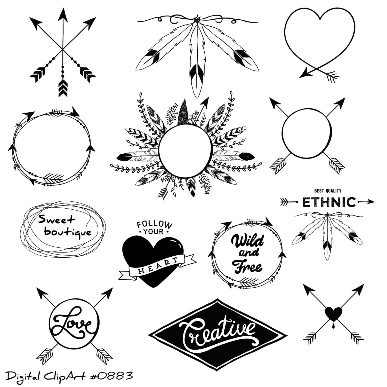 Tribal Clipart Tribal Clip Art Digital Clipart Arrow
