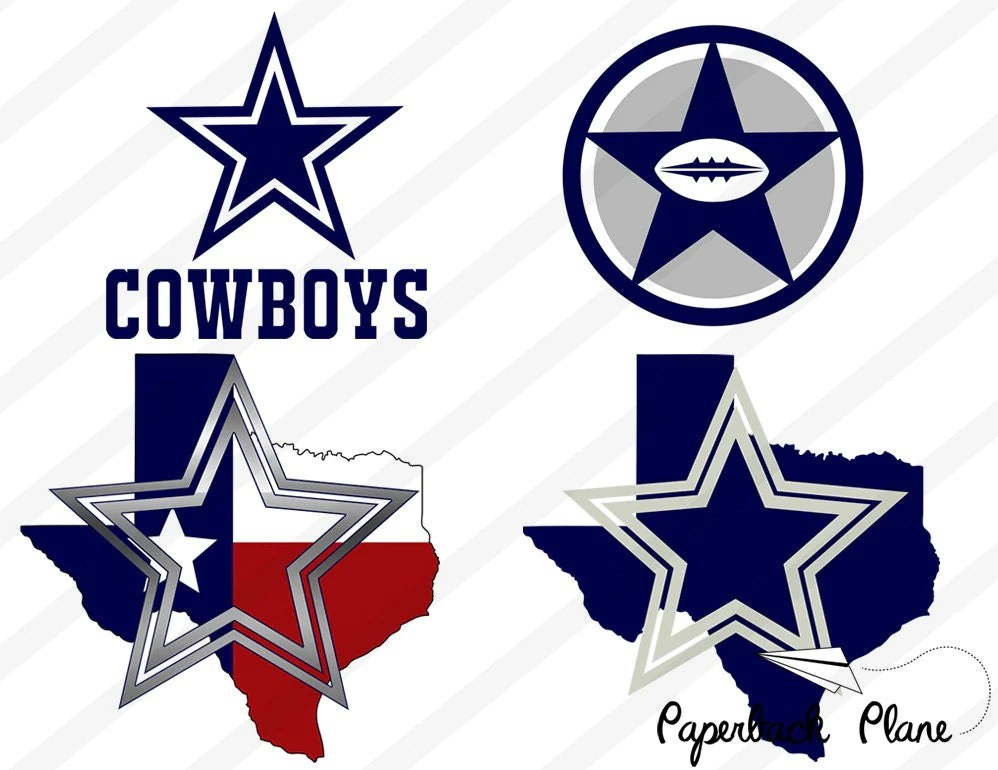 Download Dallas cowboys nfl SVG PNG Cut Files for use by Paperbackplane