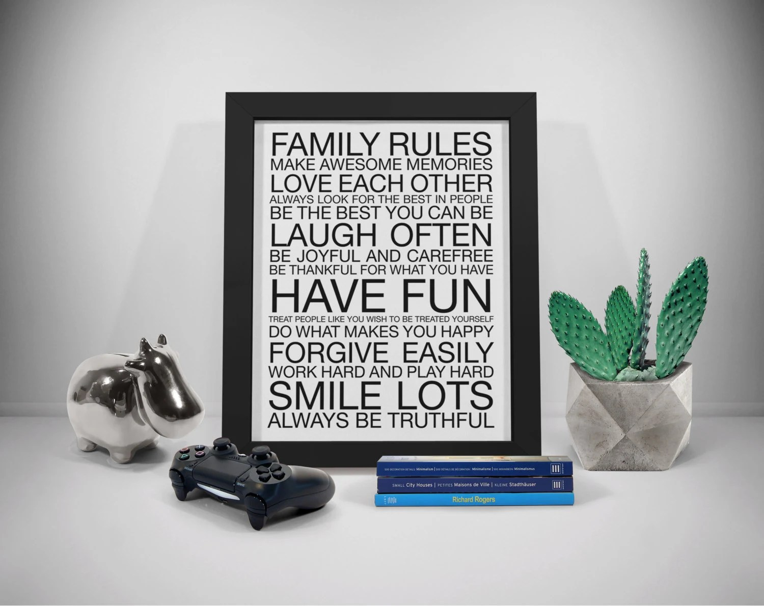 Family Rules Sign Family Rules Wall Art House Rules Sign