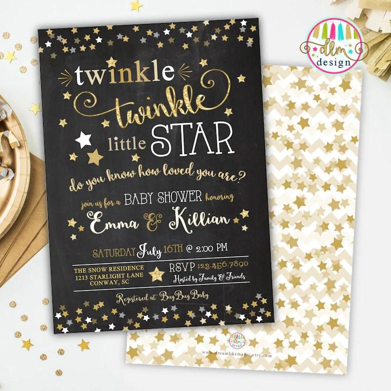 Baby Shower Invitations Stars