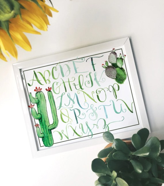 Cacti Alphabet