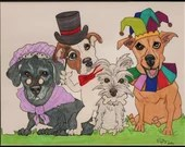 Caricature, Custom Pet Po...