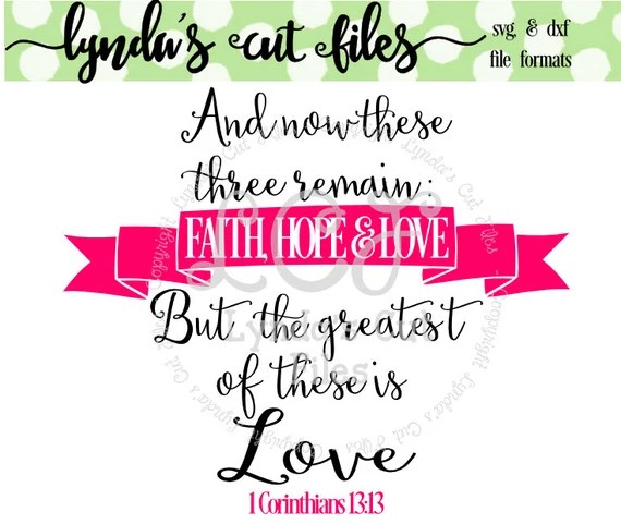 Download The Greatest of these is Love SVG/DXF file