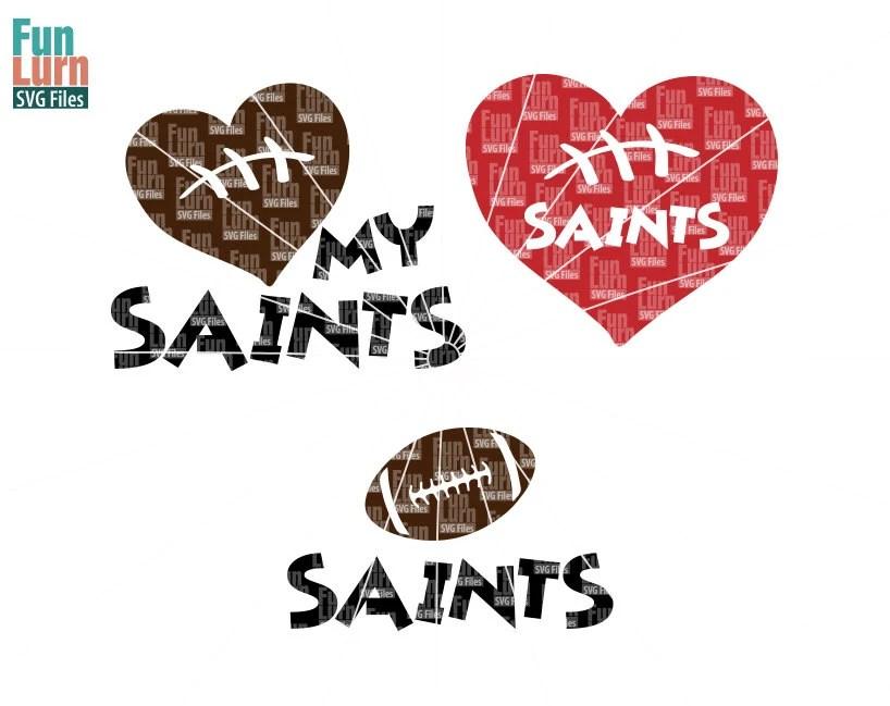 Download Football SVG, Football season , Saints , Football, Love my ...