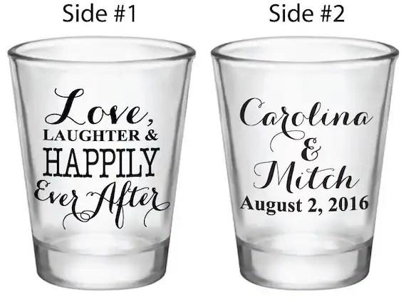 Shot Glass Wedding Favors 1.5oz Glass Shot Glasses Love