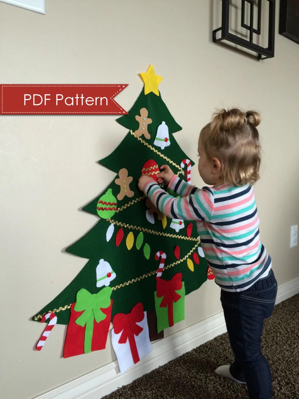 Felt Christmas Tree Digital Pattern No Sew Diy Printable