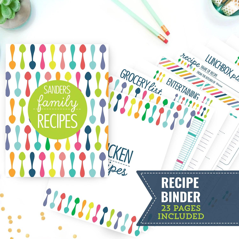 Printable Recipe Binder Kitchen Binder Family Recipe