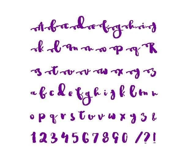 Knitting Graph Alphabet Letters