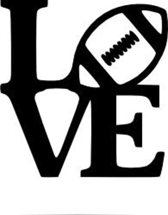 Download Items similar to Love Football Decal, Yetti Cup Decal, Car ...