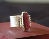 Pink Tourmaline and Sterl...