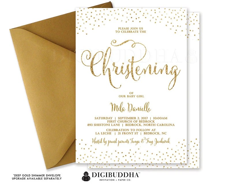 Cheap Christening Invitation Cards