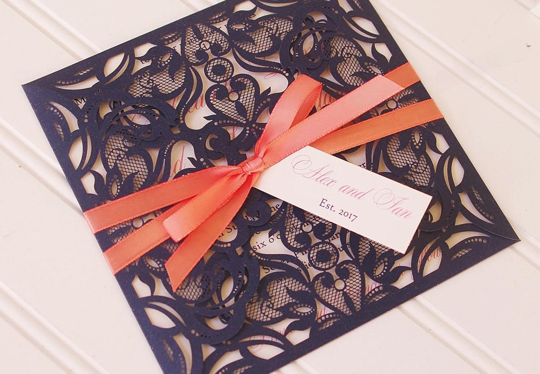 Rustic Lace Wedding Invitations