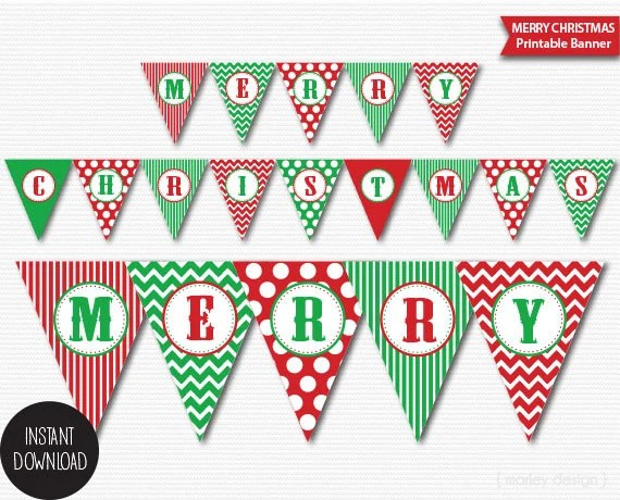 vintage merry christmas banner printable - architecture modern idea •