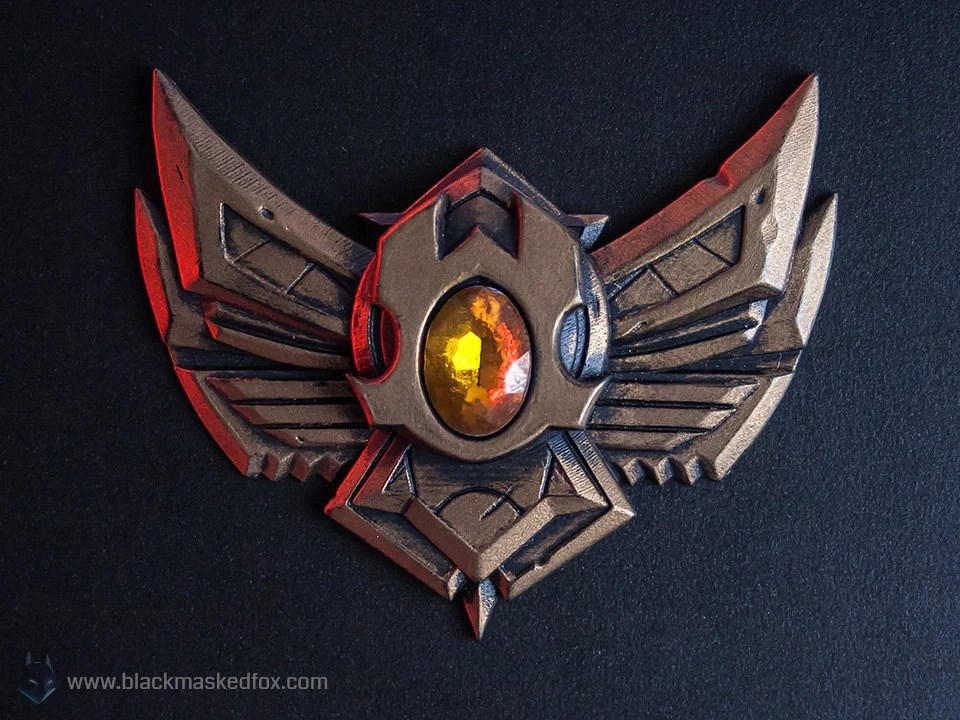 Bronze Badge League Of Legends Hand Painted With Gemstone