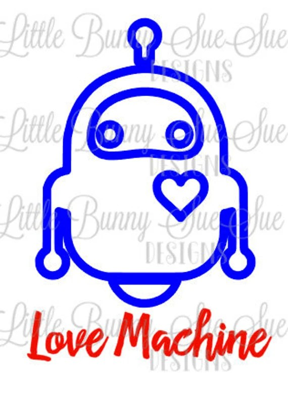 Download Love Machine Robot SVG PNG DXF Cutting Machine File