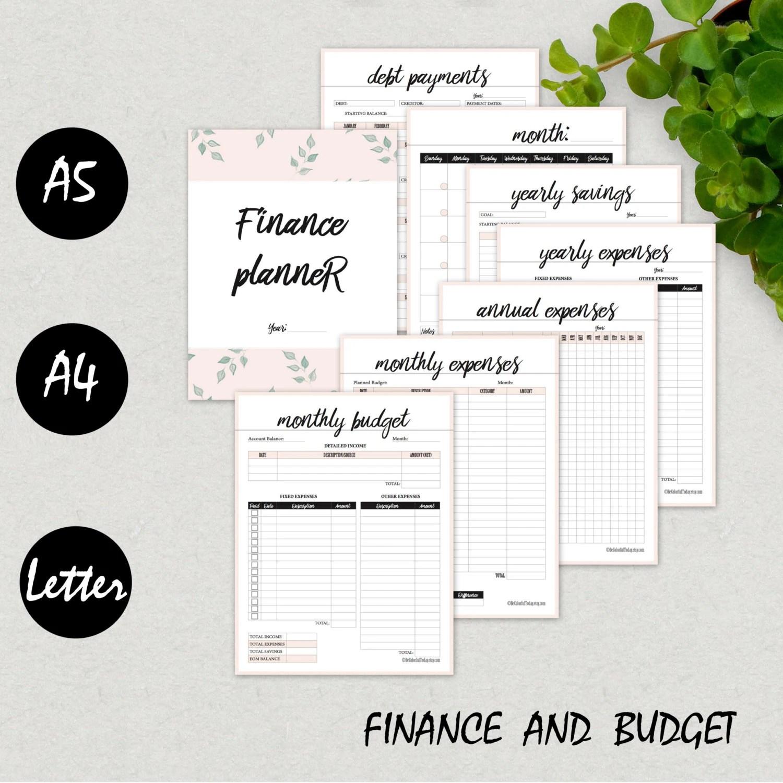 Financial Planner Finance Organizer Budget Planner Yearly