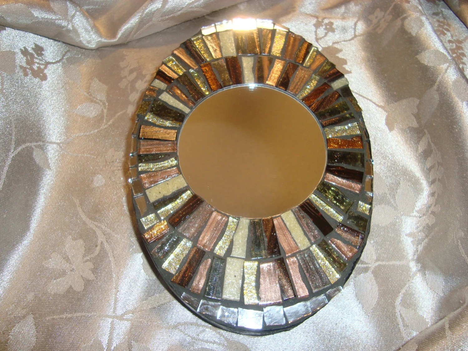 MOSAIC MIRROR Accent Mirror Small Oval Mirror Wall Art