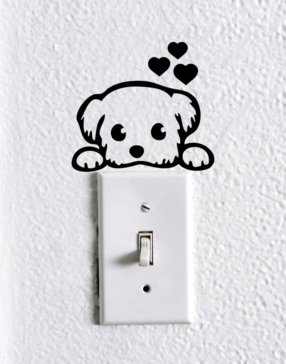 Cute Dog Baby Pet Light Switch Wall Decal By
